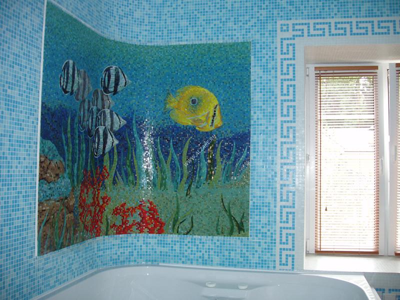 Мозаика своими руками в ванной комнате фото в 77